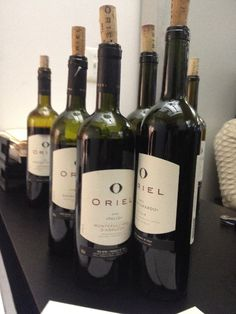 Having fun tasting wine at Oriel!