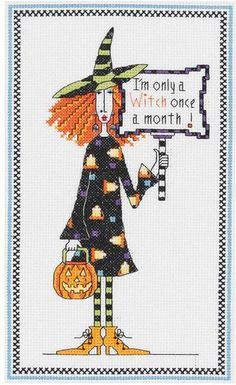 Dolly Mamas Witch - Cross Stitch Kit