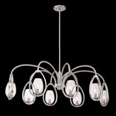 Fantini Satin Nickel Eight-Light Chandelier