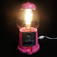 Repurposed Bubble-Gum Lamp.  An Argyle studio original.