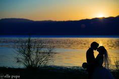 サンセットコレクション -びわ湖で夕日前撮り-  *ウェディングフォト elle pupa blog*