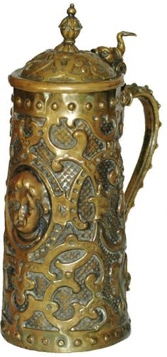Hand Hammered Brass Stein