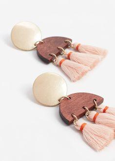 Tassels pendant earrings