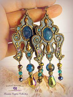 Indrani Handmade Polymer Clay Jewelry, Bracelets, Handmade, Blue, Vintage, Fimo, Hand Made, Vintage Comics, Bracelet