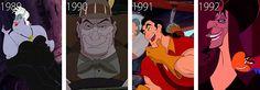 Ursula--The Little Mermaid Gaston--Beauty & the Beast Jafar--Aladdin New Disney Movies, Disney Pixar, Walt Disney, Disney Stuff, Disney Home, Disney And More, Cute Disney, Disney Villains, Disney Magic