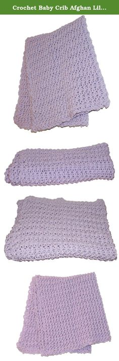 """Crochet Baby Crib Afghan Lilac Blanket, Crochet Afghan, Purple Baby Blanket, Lilac Afghan, Lavender Blanket, Stroller Afghan, Pram. This soft and beautiful lilac baby blanket is perfect to bring newborn home in. The handmade crochet baby afghan measures 38""""x38"""". Great as a carriage blanket or car seat blanket. Wonderfully textured for baby or toddler to snuggle with. Crocheted out of ultra soft yarn in lilac. Perfect gift for a baby shower! Machine wash cold and dry flat. Convo me if you..."""