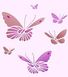 Free Printable stencils Printable 6 Inch Letter Stencil M for chi! Butterfly Stencil, Butterfly Template, Flower Stencils, Butterfly Cards, Stencil Patterns, Stencil Designs, Simple Butterfly, Templates Printable Free, Printable Stencils