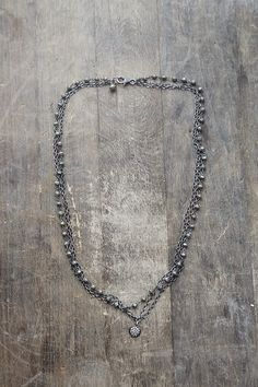 MultiChain Necklace Pyrite Oxidized Sterling by AmuletteJewelry, $180.00