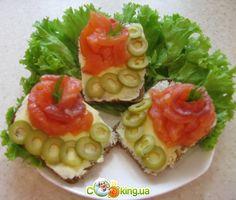 Бутерброды с семгой авокадо сыром