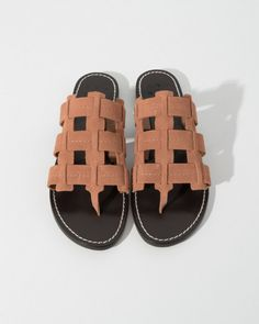 Trademark Cage Suede Sandal in Peach | The Dreslyn