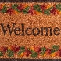 Fall Border Welcome Doormat - 12095 Front Porch Furniture, Coir, Welcome Mats, Totoro, Silhouette Cameo, Outdoor Gardens, Great Gifts, Fall, Autumn