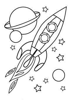 Okul öncesi Uzay Araci Boyama Uzay Pinterest Space Coloring