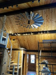 Windmill Ceiling Fan - Windmill Ceiling Fans of Texas Windmill Ceiling Fan, Outdoor Fans, Ceiling Fans, The Ranch, Remodeling Ideas, Brewery, Man Cave, Photo Galleries, Texas