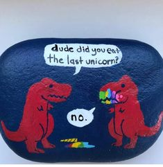 Pebble Painting, Love Painting, Pebble Art, Dinosaur Gifts, Dinosaur Funny, Stone Crafts, Rock Crafts, Rock Painting Designs, Painting Patterns