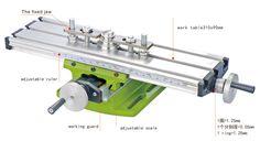 DIY Multi-function Milling Machine Mini Lathe With Cross Sliding Table 310*90mm   eBay
