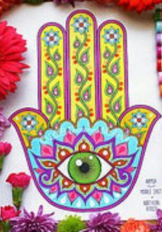Plantilla De Mano Hamsa simbólico religioso Pared Decoración Arte Pintura Craft Stencils