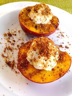 Grilled Stuffed Peaches with Panache