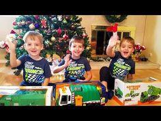GARBAGE TRUCK VIDEOS KIDS TOY UNBOXING 3 GARBAGE TRUCKS ОБЗОР РАСПАКОВКА...