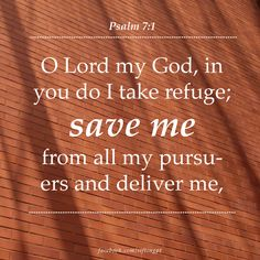 Save me.  Psalm 7:1