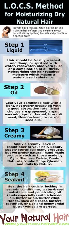 Moisturize Your Hair Using the L.O.C.S. Method - Your Natural Hair