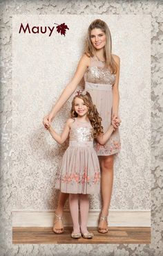 s Clothing Children' Mom Daughter Matching Outfits, Mommy Daughter Dresses, Mom And Baby Outfits, Kids Outfits, Mother Daughter Pictures, Mother Daughter Fashion, Fashion Kids, Little Girl Skirts, Royal Clothing