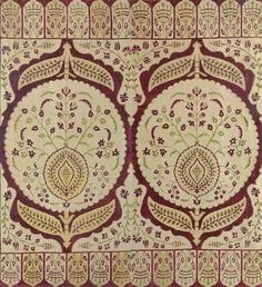 An impressive Ottoman velvet panel | Ottoman Turkey, 17th century