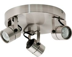Zero 3 Pan Spotlight - Brushed Chrome  Features The Zero halogen spotlight series features a classical style spotlight head available in brushed chrome and white The units incorporate an integral transformer which is dimmable, with both leading and trailing edge dimmers The Zero incorporates 12v 35w energy reduction lamps which have the equivalent light output of a 12v 50w MR16 lamp This represents a power saving of 30%