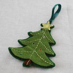 EBook PDF modèle feutre brodé Christmas Ornaments par ericahite