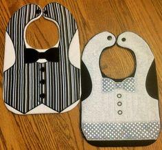 Vest Bibs with Bow Tie Baby Bibs