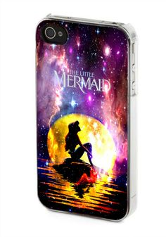 iPhone case, iPhone 4/4s case, iPhone 5 case, Samsung Galaxy s3/s4 case, In The Moon light Nebula Space Ariel The Little Mermaid