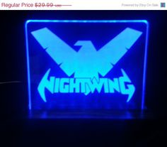 Check out this item in my Etsy shop https://www.etsy.com/listing/228570028/easter-sale-nightwing-batman-led-display