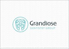 Logo for sale by Melanie D: Beautiful elegant and upscale dental tooth logo design that features a fancy molar tooth design. The tooth is created with a scrolling and swirling pattern to create a classy and luxurious look.