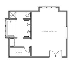 Master bedroom 12x16 floor plan with 6x8 bath and walk in for 12x16 master bedroom