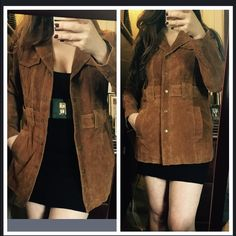 Forever 21 pigskin leather jacket Brand new with tags!! 100% pigskin leather! Love the 70s look!! Marked as a size L but fits a size M as well Forever 21 Jackets & Coats