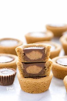 French Delicacies Essentials - Some Uncomplicated Strategies For Newbies Gluten Free Reese's Peanut Butter Cookie Cups Are So Good Gluten Free Peanut Butter Cookie Dough Is Baked In Mini Muffin Tins. When Baked, Mini Reese's Peanut Butter Cups Are Pressed Gluten Free Peanut Butter Cookies, Gluten Free Cookie Recipes, Reeses Peanut Butter, Gluten Free Desserts, Delicious Desserts, Paleo Cookies, Hot Fudge Cake, Hot Chocolate Fudge, Chocolate Butter