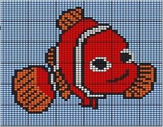 C2c Crochet, Tapestry Crochet, Crochet For Kids, Cross Stitching, Cross Stitch Embroidery, Pixar, Animation, Cross Stitch Charts, Dory
