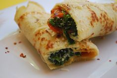 Spinach Crepes - one of our favorite simple and quick meals