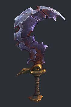 Lycelot Sword - Battle Chasers Nightwar Fan Art on Behance 3d Fantasy, Fantasy Weapons, Prop Design, Game Design, Battle Chasers, Dragons, Hand Painted Textures, Game Props, Weapon Concept Art