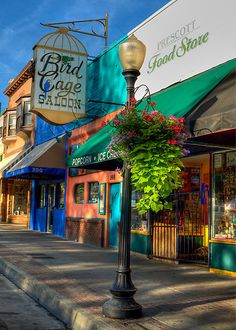 Whiskey Row Prescott, Arizona- By Diana Graves Photography. Note that the Bird Cage, Prescott Food Store, and adjacent buildings were destroyed by fire in the summer of State Of Arizona, Arizona Travel, Arizona Trip, Arizona Usa, Great Places, Places To See, Beautiful Places, Nevada, Prescott Arizona
