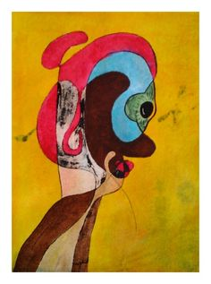 Contemporary art : A Twinkle of an Eye – Watercolour giclee print by RT Brokstad
