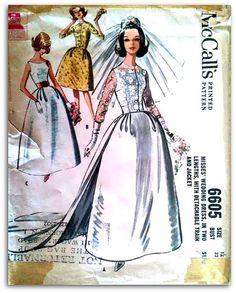 McCall's  6605  Wedding Dress in two lengths by ThePatternShopp, $20.00