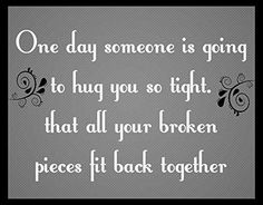 """Wood Sign Rustic Primitive """"One Day Someone Is Going to Hug You so Tight"""" Romantic Quote Couple Wall Art Home Decor Sign Plaque New sappy art http://www.amazon.com/dp/B00Z4TGY3E/ref=cm_sw_r_pi_dp_lhxFvb1S1Q771"""