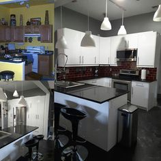 Out with the old and in with IKEA kitchen  #ikeadesign #ikea #ikeakitchen #renovation #kitchen #moderndesign #contamporary #diy #doit #doityourself