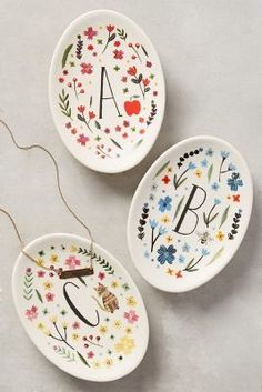 Anthropologie Monogrammed Meadow Trinket Dish   Pinned by TOPISTA.COM