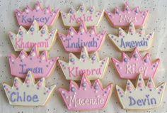 Prince and Princess Crown Cookies - Crown Cookie Favors - Princess Crown Cookies - Prince Crown Cookies - 1 Dozen Peppa Pig, Princesse Party, Crown Cookies, Disney Inspired Food, Prince Crown, 2nd Birthday Parties, Birthday Cakes, Birthday Ideas, Cookies For Kids