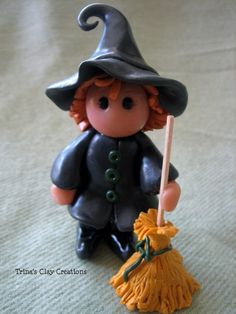 Polymer Clay Witch by trinasclaycreations on Etsy, $29.00