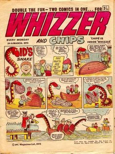 whizzer and chips old comics 1980s Childhood, My Childhood Memories, Vintage Comics, Vintage Books, Children's Comics, Classic Comics, Great British, My Memory, Illustrations