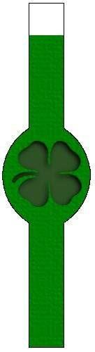 Shamrock Shadow Design St. Patrick's Day Napkin Ring - Free, Printable St. Patrick's Day Crafts