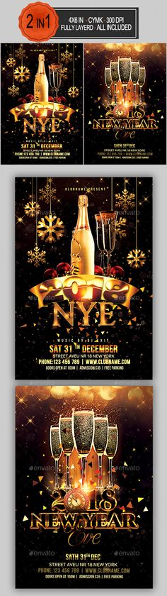 #New Year #Flyer Bundle - Clubs & Parties #Events
