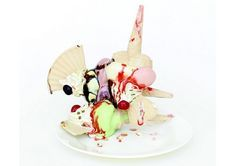 Ice cream ceramic sculptures by Anna Barlow